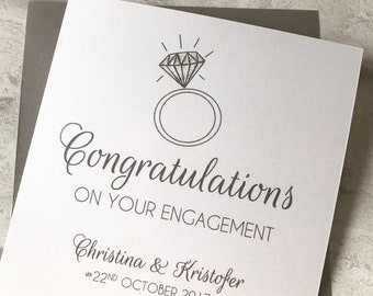 Engagement Congratulations Card Personalised