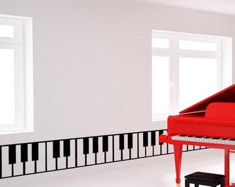 Vinyl Wall Decal Sticker Piano Keys OSMB887s