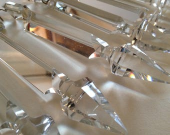 Vintage French Chandelier Crystals