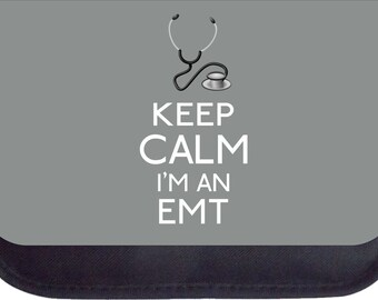 Keep Calm I'm an EMT-Grey - Black Pencil Bag - Pencil Case