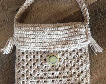 Boho Crochet Crossbody Handbag