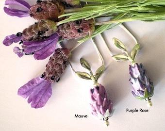 Lavender Love Pendant Spanish Lavender Glass Bead Pendant Necklace