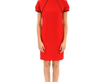 Smooth red silk dress