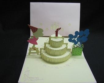 3-D Birthday Girl Pop-Up Card