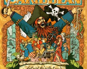Vintage Disney Parks Poster Print, 1982 Tokyo Disneyland, Pirates of the Caribbean, Item 110, Disney Poster Art