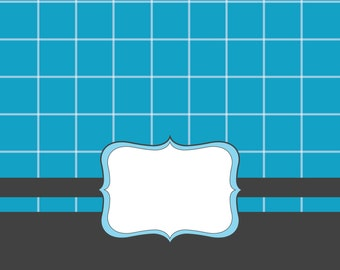 Blue frame -clipart commercial use digital clip art , vector graphics, digital images