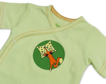 Bio Cotton Baby Bodysuit - Organic Cotton Bodysuit - Organic Kimono Bodysuit -Short Sleeves Baby Romper -Eco-Friendly Baby Gift