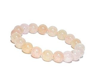 10 mm Genuine Morganite Bracelet, Heart Chakra Bracelet, Chakra Bracelet, Healing Bracelet, Natural Crystal Bracelet, Love Stone Bracelet