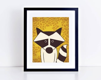 SALE! ** Raccoon 8 x 10 Inch Fine Art Print