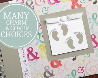 TWIN Baby Book | Twin Baby Album & Photo Book | Pregnancy Gift for Twins | Gender Neutral | Boy | Girl | Ampersand + Gray