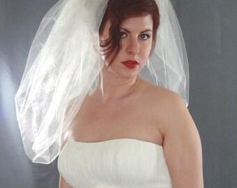 Bubble Veil,  Bubble Bridal Veil, Short Veil