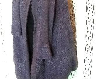 Freesize Cape,wool,Mauve, handcrochet,original design
