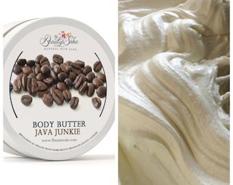 Java Junkie Organic Whipped Body Butter - 8 oz Skin Superfood/Non-Greasy/Natural Lotion/Java/Vegan/Paraben Free/Skin Moisturizer