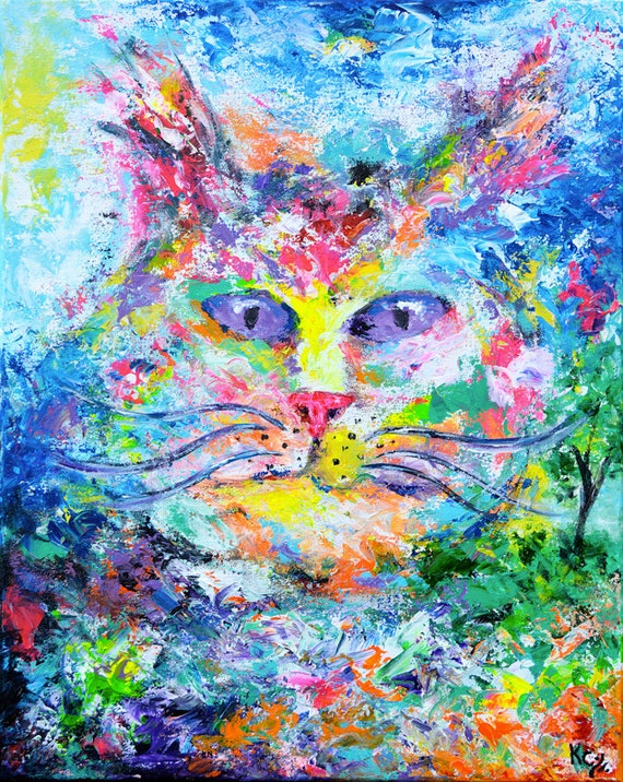 Cat Yearning for the Outdoors Painting