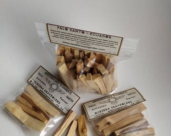 Fresh and Fragrant Palo Santo sticks. Natural Incense-Bursera Graveolens-Sustainable harvest-Ecuador