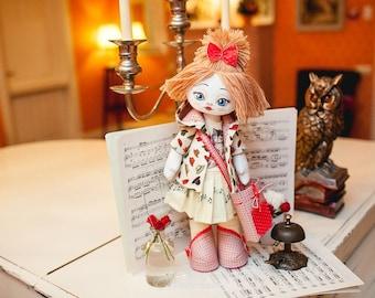 "Doll Making Kit, Set for sewing doll, Textile doll ""Pianist"", Set for textile doll, Handmade doll, Sewing kit"