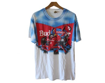 Vintage Formula One  Budweiser T-shirt Size Large