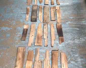 Wood Vintage Shingles Variety of Sizes Vintage Art Recycle Lot of 30 Plus As Pictured Craft Wood Hobby Wood