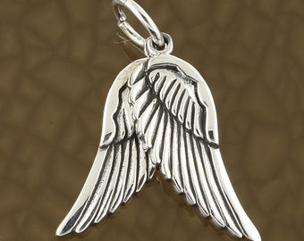 Sterling Silver Wings of Angels Pendants Lucky Charm Necklace Free Shipping!