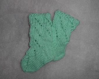 Baby, newborn socks , lace, light green,aquamarine, magic mint,FREE SHIPPING