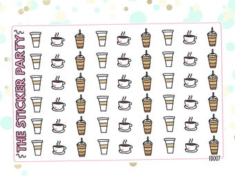 Assorted Coffee Planner Stickers