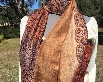 Antique Silk Sari Scarf