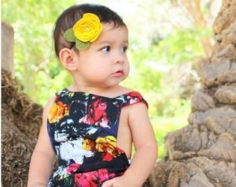 Felt Rosette | Felt Rosette Headband - Rosette Flower Headband - Rosette Hair Clip - Baby Headband - Floral Baby Accessories