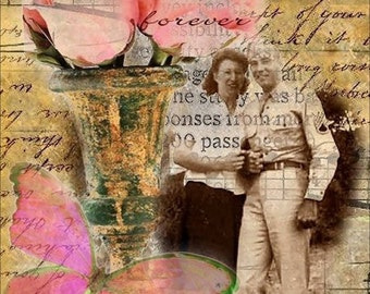 ACEO - Love is Forever - Digital Collage Art by ruby