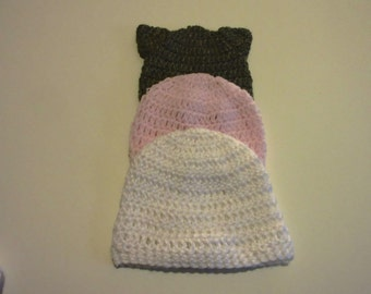 Baby Cat Hat Sets Sizes Preemie-24 Months  Perfect for a Baby Gift.