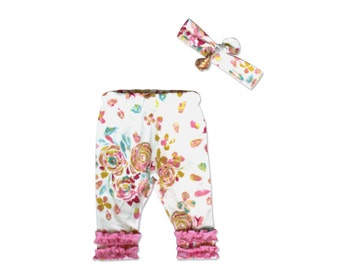 Coming Home Outfit Baby Girl - Floral - Baby Girl - 2 piece