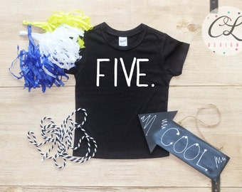Birthday Boy Shirt / Baby Boy Clothes 5 Year Old Outfit Fifth Birthday TShirt 5th Birthday Boy Outfit Birthday Party Five Shirt Toddler 029