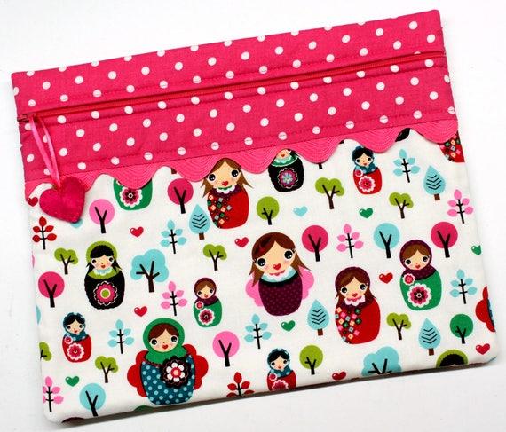 I Heart Matryoshkas Cross Stitch Embroidery Project Bag
