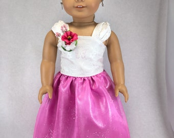 18 inch Prom dress, formal gown, princess dress, bridesmaid dress, made to fit like American Girl doll clothes