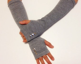 Cotton Arm Warmer Fingerless Gloves