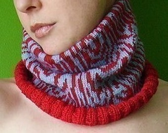 PDF knitting pattern faux bois chart (and cowl instructions)