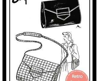 1940s Wartime Handbag Sewing Pattern  - PDF instant Download