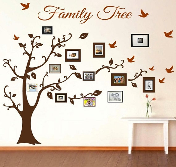Family Tree Picture Frame Decal by TrendyWallDesigns