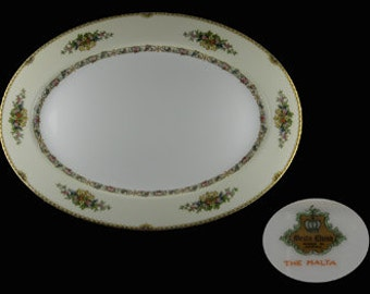 Vintage Meito The Malta Oval Serving Platter - Japan