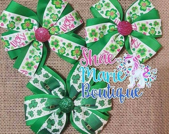 St. Patrick's Day Pinwheel Bow Bundle