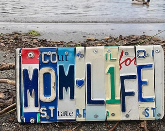 License plate art/License plate sign/mom life sign/mom sign/Mom gift/Gift for mom/gift for her/custom signs