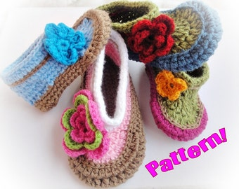 Eva Crochet Slippers Patterns