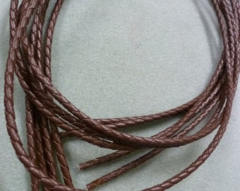 Leather Bolo Cord, Brown, 24 inch - BC02-B