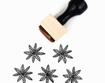Rubber Stamp Poinsettia Flower | Hand Drawn Christmas Flower Stamp