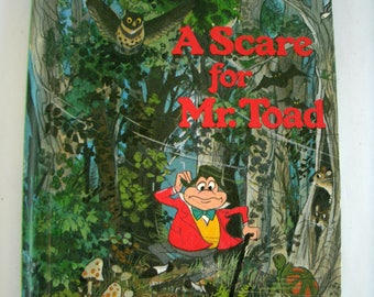 A Scare for Mr. Toad, Disney's Wonderful World of Reading, Vintage 1980s Children's Book, 1985