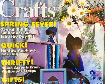 Sunbonnet Crafts Magazine - Spring 1993 - Needlework - Stenciling - Quilting - Wood & Paper Crafts - 30 Projects