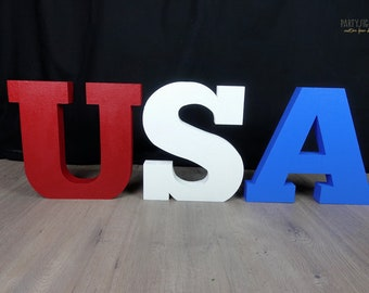 4th of July, Independence Day, Foam Letters