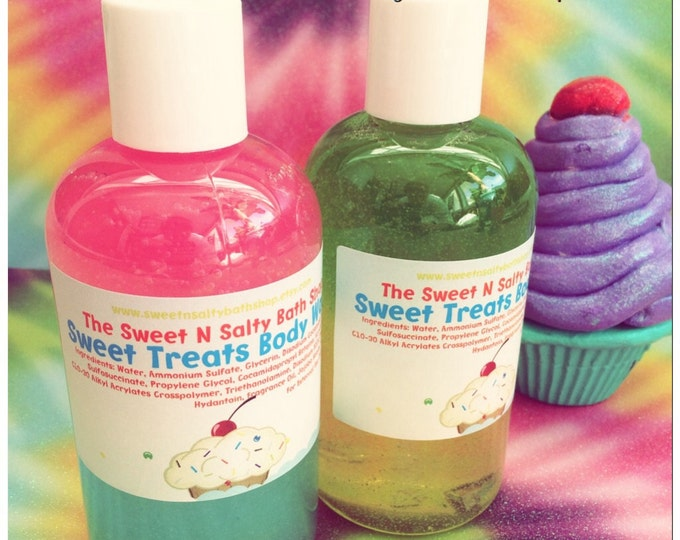 Sweet Treats Bath/Shower Body Wash-Cotton Candy, Bubblegum,Strawberry Shortcake and More!!