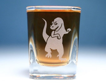 T-Rex Dinosaur Shot Glass
