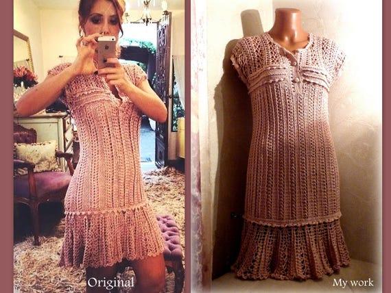 Häkeln Rüschen Kleid blass rosa Spitze Kleid kurze Prom Party