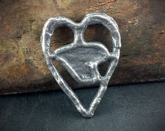 Handcrafted Heart Pendant - Handmade Jewelry by Inviciti No. 465PD